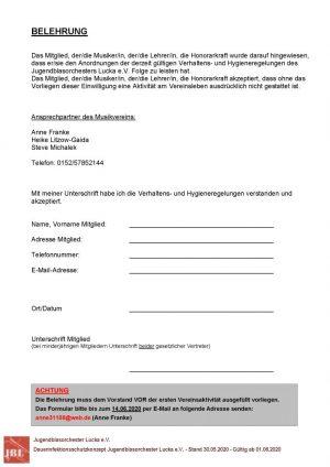 Belehrung Infektionsschutz Download